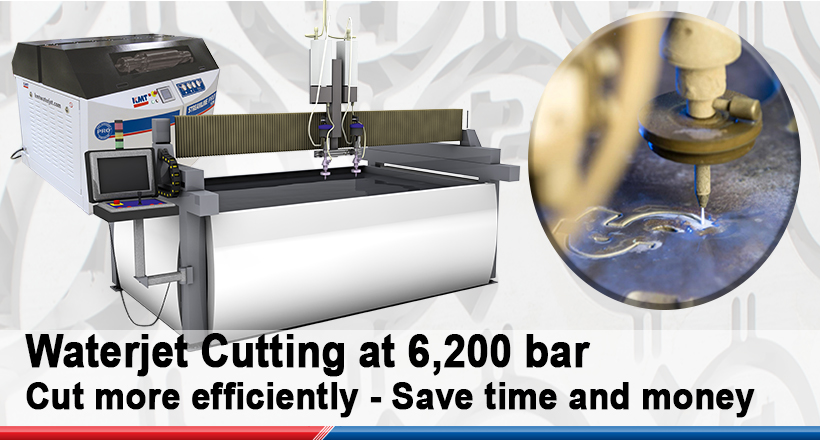 The Advantages of Waterjet Cutting at 6,200 bar